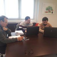 Reunion 24-01-19 A Jurado; A Luque y F Lira Oficina de Córdoba
